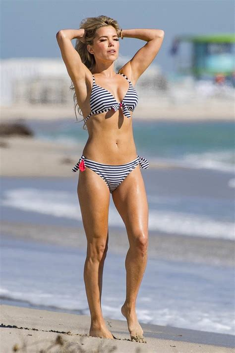 Sylvie Meis dons assorted bikinis as she shoots for her ...