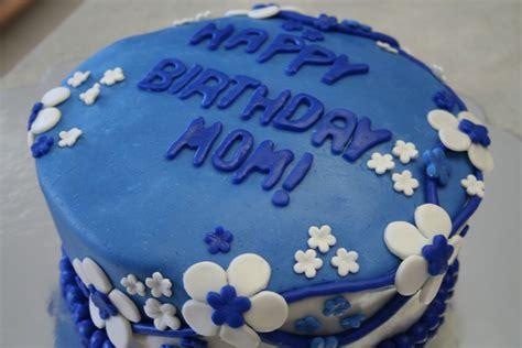 Pink Frosting Bakery Blue Birthday Cake