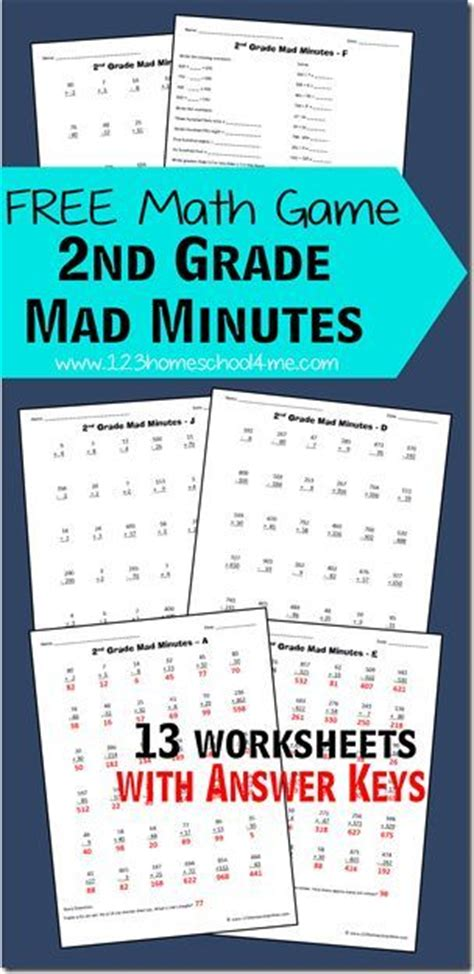 Free Math Games 2nd Grade Mad Minutes  Homeschool, Multiplication And Division And Free Maths