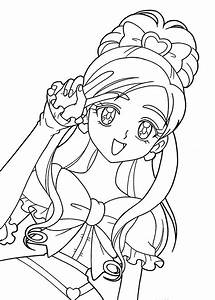 Pretty cure characters anime coloring pages for kids ...