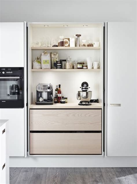 how to organize small kitchen great idea cupboard doors fold into cupboard exposing 7304
