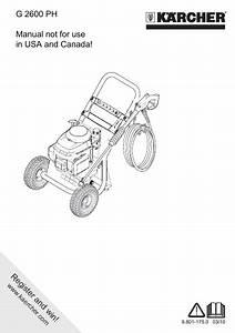 Karcher High Pressure Washer Operator Manual