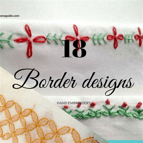 beautiful hand embroidery border designs sew guide