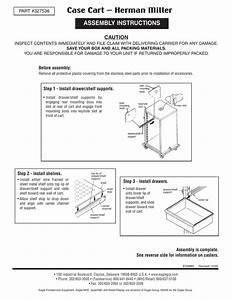 Case Cart  U2013 Herman Miller Assembly Instructions Caution