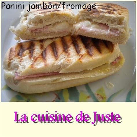 panini maison au jambon fromage la cuisine de juste