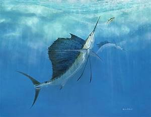Two Of A Kind Sailfish Painting by Kevin Brant