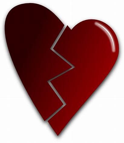 Broken Heart Clip Clipart Vector Domain Clker