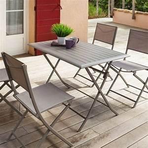 Table De Balcon Pliante : table de jardin salon de jardin repas et detente eminza ~ Melissatoandfro.com Idées de Décoration
