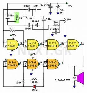 Ultra High Sensitivity Metal Detector Circuit