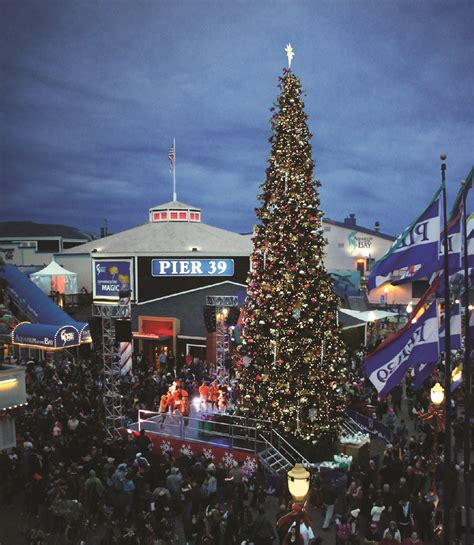 san francisco tree lighting light up the night at the pier 39 tree lighting celebration