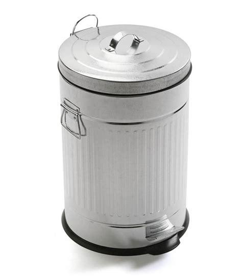 poubelle de cuisine 30l poubelle de cuisine rétro en métal blanc 30l wadiga com