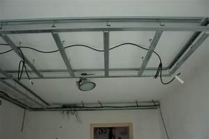 Faire Un Faux Plafond : faire un faux plafond en placo suspendu maison travaux ~ Premium-room.com Idées de Décoration
