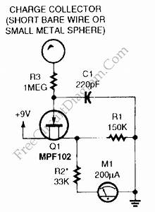 Electrostatic Charge Detector  Electroscope   U2013 Circuit