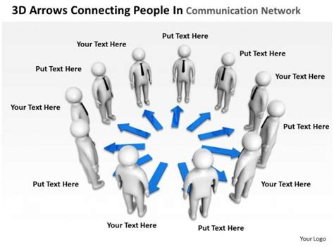 arrows connecting people  communication network