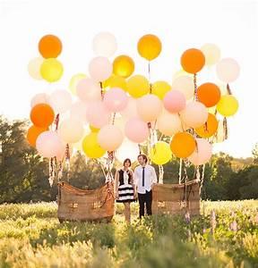 Vintage Hot Air Balloon Wedding Inspiration Green