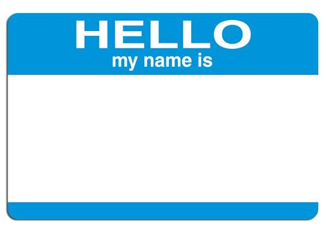 Free Hello My Name Is Stock Photo Freeimagescom