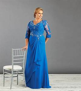 aliexpresscom buy blue plus size mother of the bride With robe pour femme ronde elegante