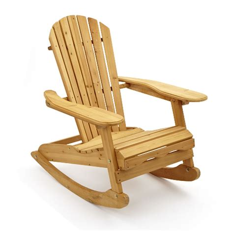 garden patio wooden adirondack rocking chair