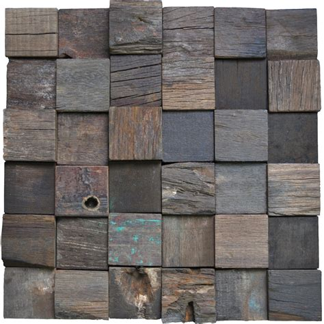 wall to wall tile reclaimed wood wall tiles accent wall square 11 panels 10 66 sq ft