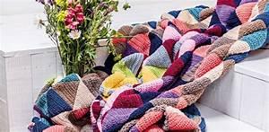 Decke Stricken Patchwork : decke h keln so gelingt die wolldecke im patchwork stil ~ Watch28wear.com Haus und Dekorationen