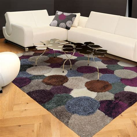 tapis gris et prune tapis shaggy gris et prune arte espina 70x140
