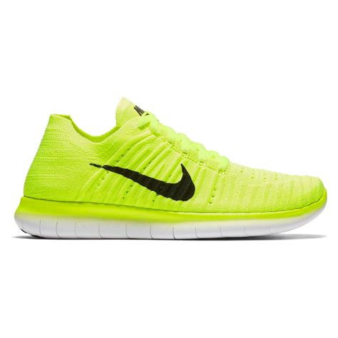 nike free run flyknit running shoes for black lime