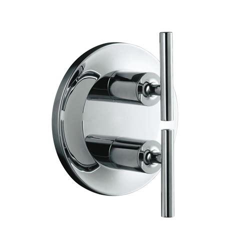 designer kitchen faucet kohler purist 2 handle valve trim kit in polished chrome 3239
