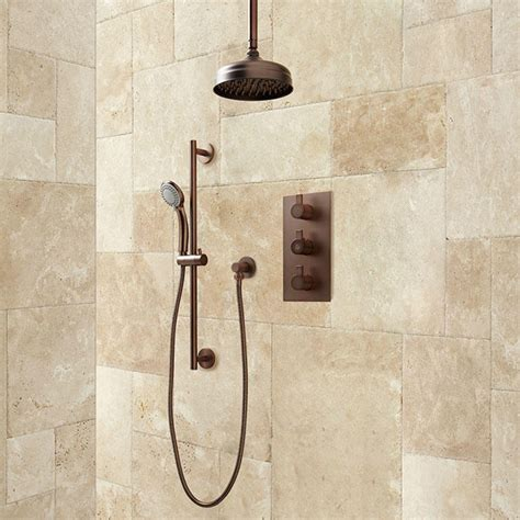 Isola Thermostatic Shower System with Rainfall Shower