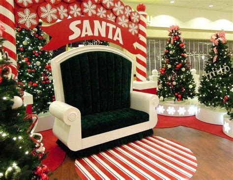 Backdrop Santa by Wide Santa Throne Santa Photo Sets Props