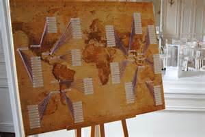 plan de table mariage chetre décoration de mariage sur le thème du voyage roundtrip