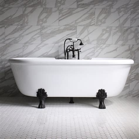 Air Bath Tub by 75 Quot Heated Air Jetted Ended Clawfoot Tub