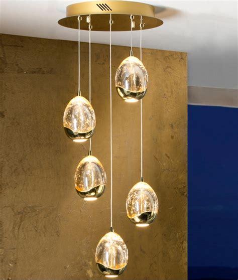 led glass pendant lights chrome or gold led glass ball pendant with 5 lights