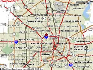 Printable Map of Houston Texas Area