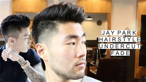 jay park inspired undercut  fade asian mens