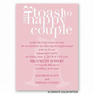 a toast mini engagement party invitation invitations by With sample of wedding invitation card toast