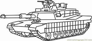 M1 Abrams Army Tank Coloring Page - Free Tanks Coloring ...