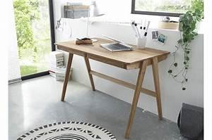 Bureau Moderne Pas Cher : bureau scandinave bois massif cbc meubles ~ Teatrodelosmanantiales.com Idées de Décoration