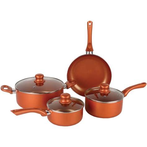 brentwood appliances bps   piece nonstick copper cookware set