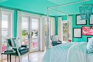 1001 designs stupefiants pour une chambre turquoise With chambre turquoise et noir
