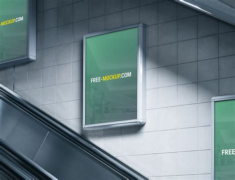 subway advertising billboard mockup  mockup