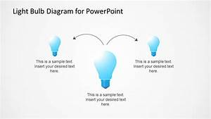 Light Bulb Diagram Template For Powerpoint