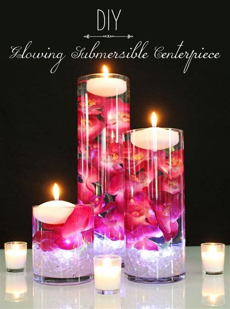 how to make a floating candle centerpiece wedding