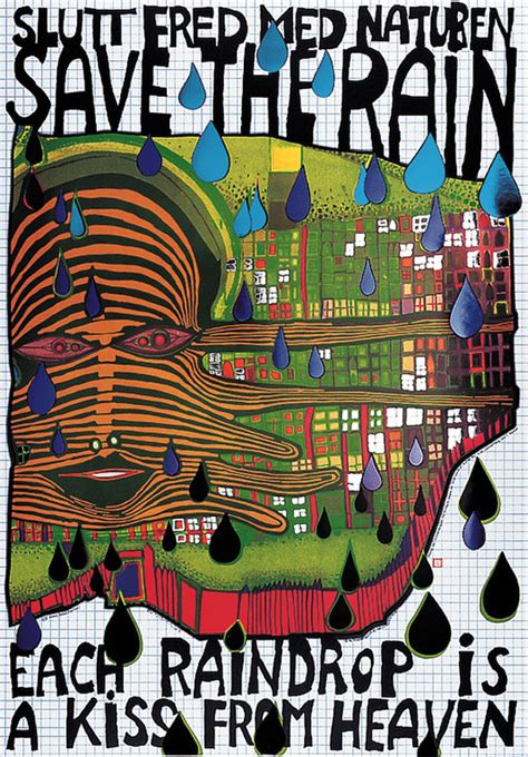 buy hundertwasser poster save  rain