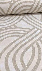 P&s Carat Glitter Gold Wallpaper-damassé géométrique ...