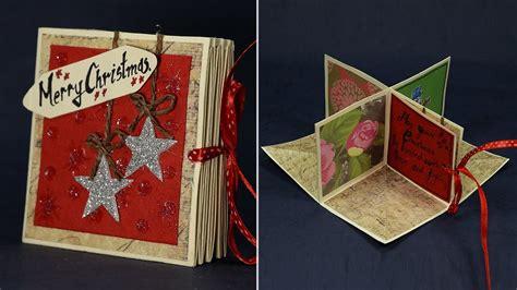 diy pop  corner christmas card magical handmade