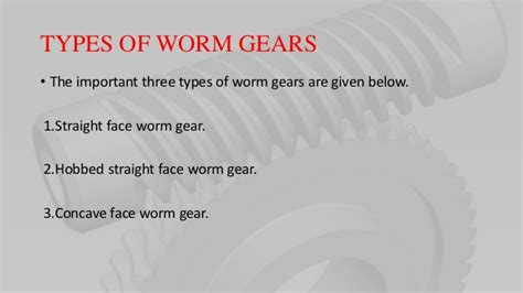 Worm Gear Ppt