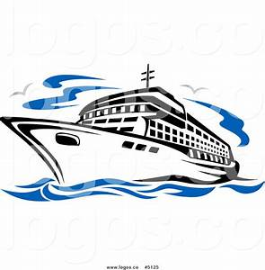 Royalty Free Vector of a Seagulls and Cruise Ship Travel ...