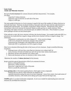 Atomic  U0026 Molecular Structure Study Guide
