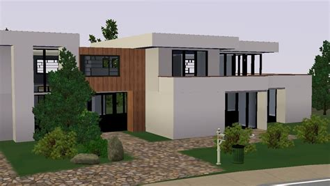 sims 3 modern moderne house maison 2