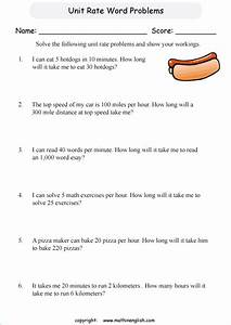 Read The Rate And Ratio Word Problems And Calculate The